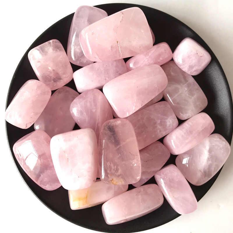Alami Mawar Kuarsa Pink Crystal Rock Chip Penyembuhan Reiki Chakra Kerikil Batu Mineral Spesimen Kesehatan Dekorasi Koleksi