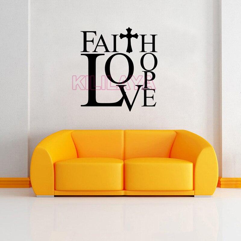 Faith Wallpaper: Christian Faith Love Hope Cross Vinyl Wall Sticker Decal