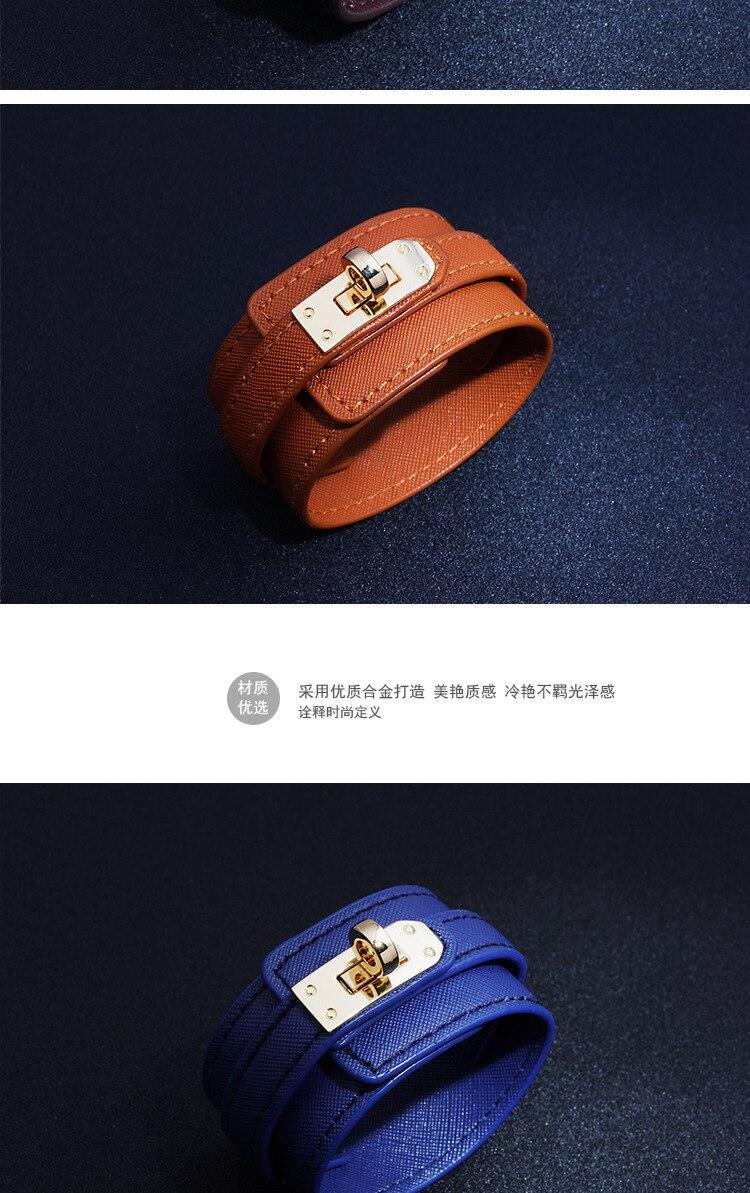 D&D Leather Bracelet Multi-layer Alloy Ms Bracelet Women's Retro Punk Casual Bracelet Jewelry Accessories