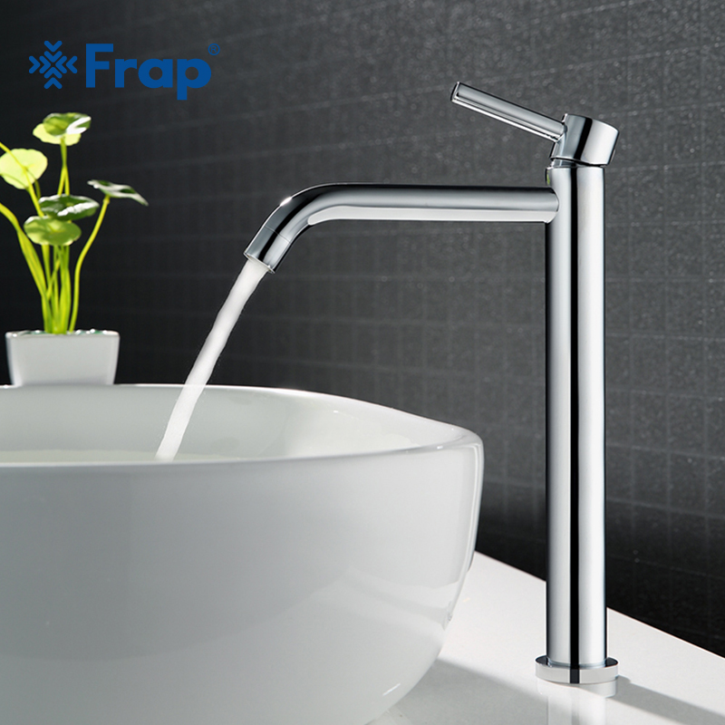 Frap banho Alto torneira da pia do banheiro de alta qualidade magro quente e fria misturador de água da bacia torneira do banheiro torneira da pia único y10122/23