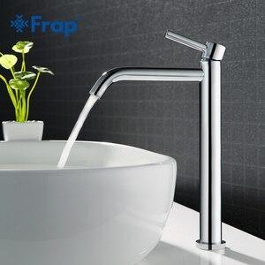 Image 1 - Frap robinet de lavabo de grande taille pour la salle de bains robinetterie mince pour leau chaude et froide du lavabo robinetterie simple pour la salle de bains Y10122/23