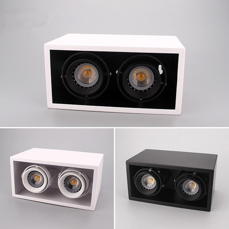 Carré COB gant de toilettage 20 W 24 W Surface Monté led plafonniers Spot Lumière gant de toilettage AC 85 V-265 V