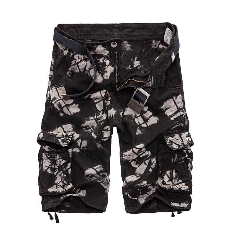 2017 New Camo Military Shorts Summer Bermuda Camouflage Cargo Shorts Men Cotton Loose Outwear Tactical Short Pants No Belt