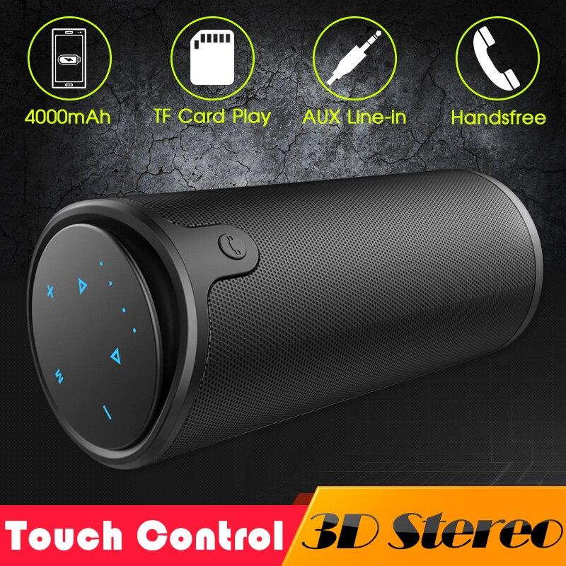 ZEALOT S8 3D Stereo Bluetooth Lautsprecher Drahtlose Subwoofer Spalte Tragbare Touch Control AUX TF Karte Wiedergabe Freihändiger Mit Mic
