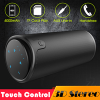 ZEALOT S8 3D Stereo Bluetooth Speaker Wireless Subwoofer Column Portable Touch Control AUX TF Card Playback Handsfree With Mic