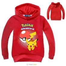 Child Sweatshirt Girls Hoodies Kids Cartoon  Pokemon Go Printed Autumn Boys Teenage Girl Clothing Vetement Enfant Fille