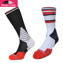 Chicago Basketball Socks Men Terry Anti-friction Compression Socks Black Red White Michael JD Rodman Rose Crew Sox