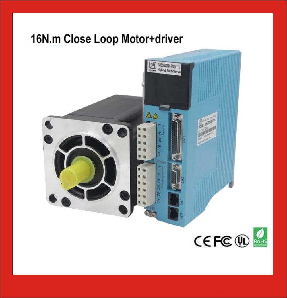 3 phase NEMA42 16NM Closed Loop Stepper Servo Motor Driver Kit for CNC Cutting Machine Engraving Machine closed loop 2n m nema 23 2 phase step servo driver kit stepper driver 2hss57 motor 57j1880ec 1000 sm742 sd
