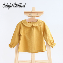Blouse Baby-Girls Shirt Tops Newborn Pure-Cotton Infant Bebe Camisa Pan Peter Jacquard