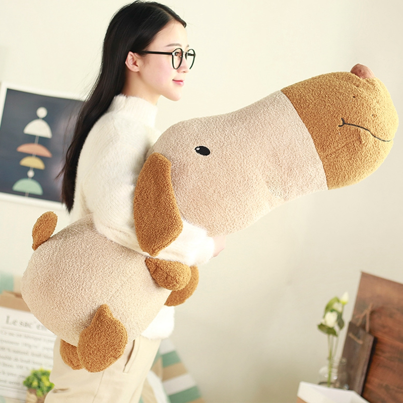 Babiqu 1pc 50cm New Big Head Dog Plush Toys Staffed Cute Dog Doll Sleep Cushion Sofa Pillow Birthday Gift for Children Kids