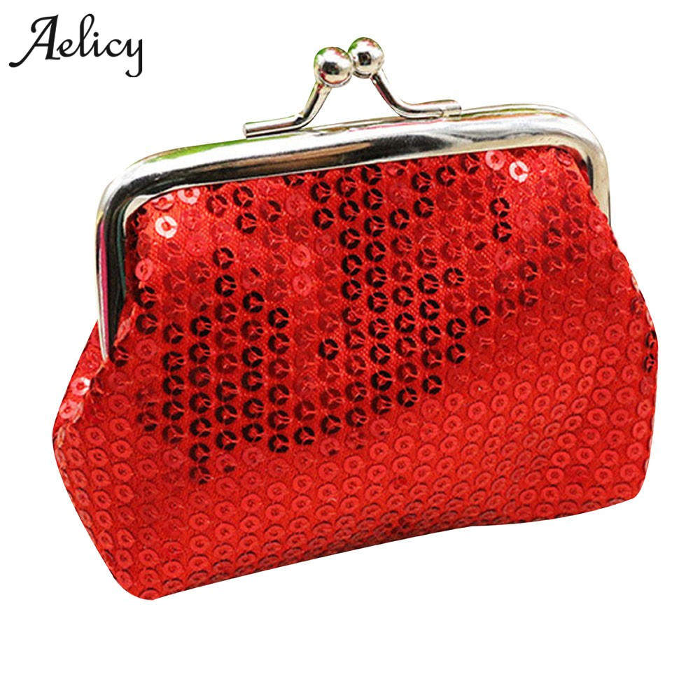 Aelicy Sequin Wallet Clutch-Handbag Coin-Purse Small Mini Card-Holder Shiney Fashion