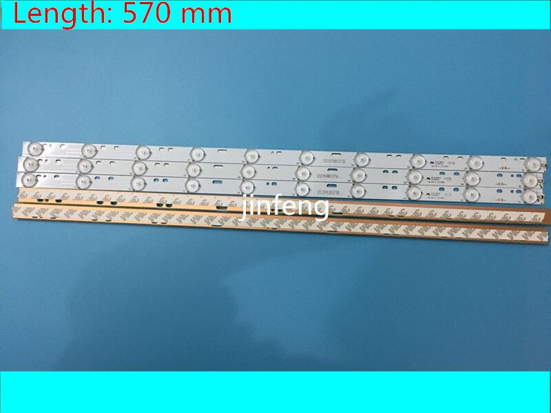 New 30 Pieces*10 <font><b>LEDs</b></font>*3V 32&#8221; 570mm*<font><b>17mm</b></font> <font><b>LED</b></font> Backlight Strips Optical Lens Flite Replacement compatible TV Monitor