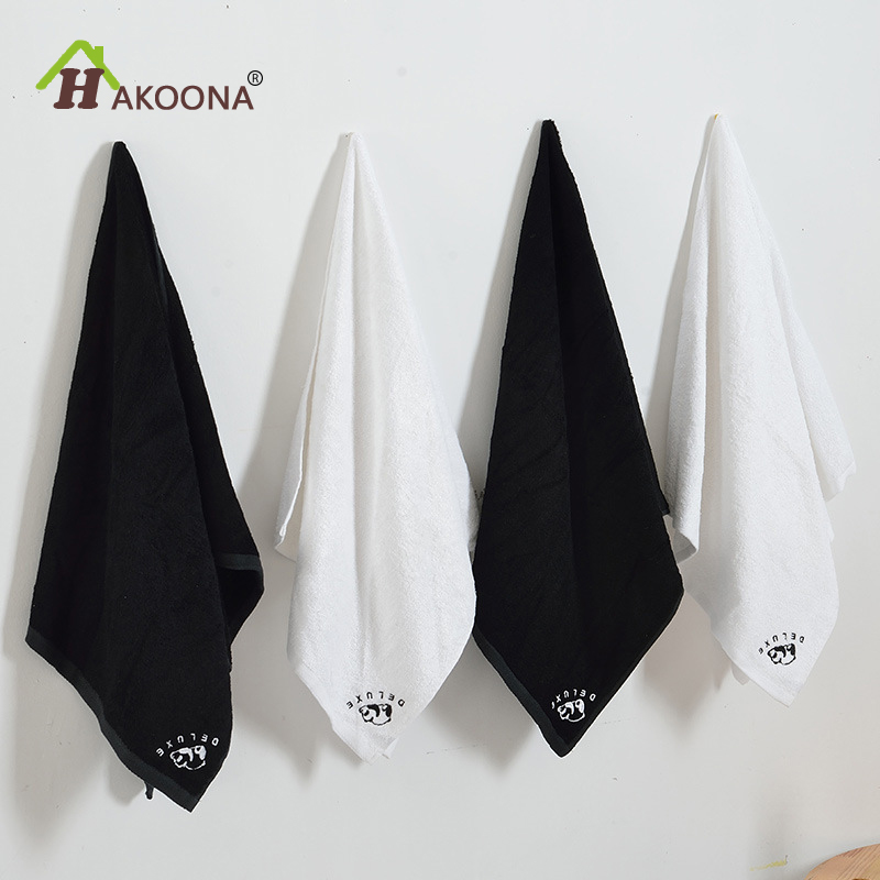 HAKOONA  100cmx 50cm Bamboo Fabric Towels Children Adults Black White Soft Small Bath Towels   Absorbent Star Wars Sport Towels