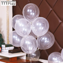 Ballons en Latex Transparent, 10 pièces/lot, 12 pouces d'épaisseur, décoration romantique pour fête de mariage, anniversaire, gonflables