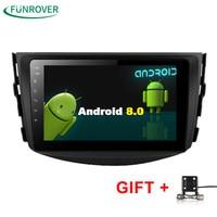 Funrover NEU!!! Android 8.0 Auto dvd-Player Für Toyota RAV4 Rav 4 2007 2008 2009 2010 2011 2 Din 1024*600 Auto dvd gps WIFI RDS BT