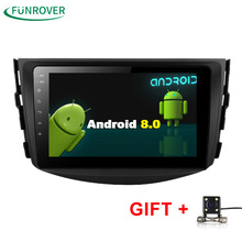 Funrover Новинка!! Android 8,0 dvd-плеер для Toyota RAV4 Rav 4 2007 2008 2009 2010 2011 2 Din 1024*600 автомобиль dvd gps WI-FI RDS BT