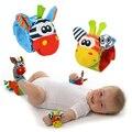 ¡ Caliente! bebé suave handbells sonajeros de mano correa para la muñeca animal calcetines de bebé toys nueva venta