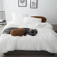 Зимний теплый комплект постельного белья из кораллового флиса с длинными волосами кашемировый пододеяльник комплект постельного белья шт.