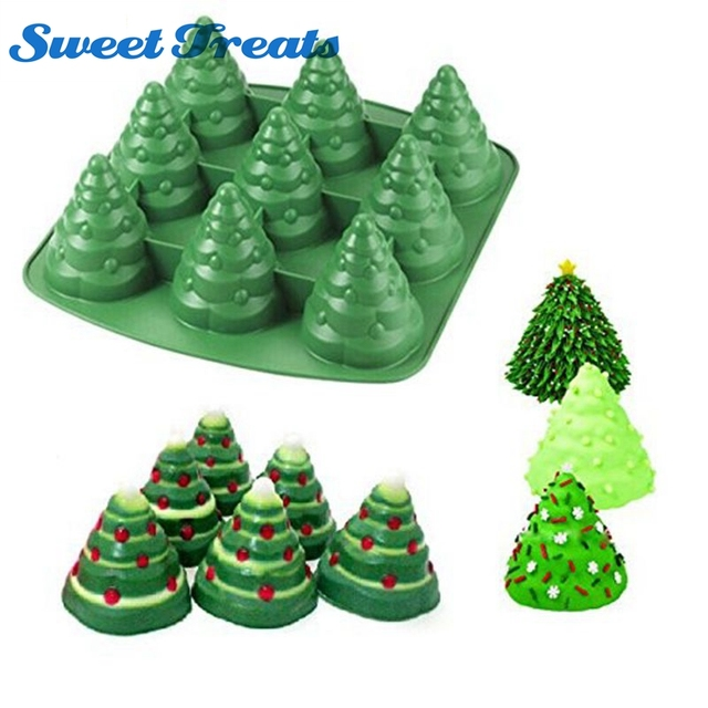 Sweettreats 3d Christmas Tree Fondant Cake Bread