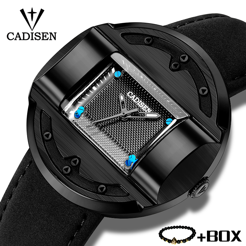 CADISEN Men Watches Military Luxury Brand Personality Square Quartz Watches Fashion Waterproof Wristwatch Man Relogios Masculino winner skeleton mechanical watch luxury men black waterproof fashion casual military brand sports watches relogios masculino