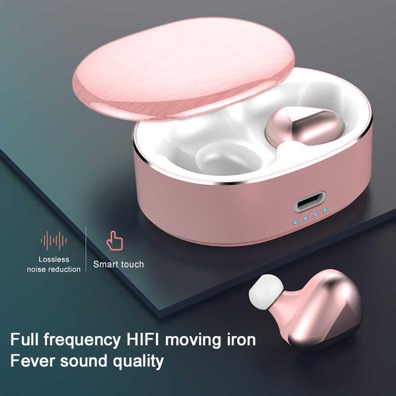Arlado T50 TWS zestaw słuchawkowy Bluetooth bezprzewodowy zestaw słuchawkowy Bluetooth słuchawki z redukcją szumów Stereo słuchawki sportowe dla IOS Android słuchawki