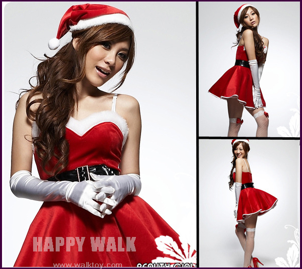 Free Shipping Christmas Uniforms Temptation Stage Christmas Party Dress / DS Costumes / DS Lead Dancer Clothing Christmas