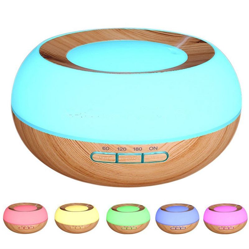 300ml Ultrasonic Aroma Essential Oil Diffuser Wood Grain Cool Mist Humidifier for Home Office Bedroom Living Room Study Yoga Spa цена