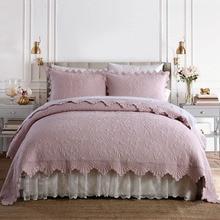 CHAUSUB 100% хлопок покрывало Стёганое одеяло комплект 3 шт. Стёганое одеяло s Качество вышивки Стёганое одеяло ed покрывало кровать наволочка король queen размеры