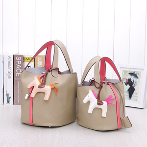 Image 2 - Сумка мешок из воловьей кожи для женщин, сумочка тоут из натуральной воловьей кожи на шнурке, композитные сумки