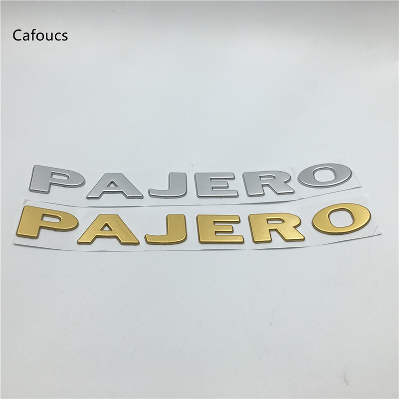 Cafocus Silver / Gold For MITSUBISHI PAJERO Rear Trunk letters Sticker Tailgate Logo Badge Emblem Decals chrome c180 letters for c 180 c class trunk emblem badge sticker