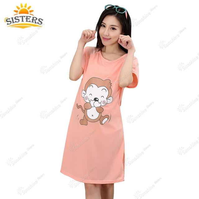 ae2239f68 Algodón Maternidad dormir pijamas de mujeres embarazadas lactancia vestido lactancia  ropa para Alimentación ropa de enfermería