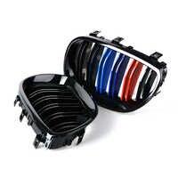 1 paire brillant 3 couleur Fiber de carbone noir M5 Style Auto voiture Style course gril course Grille pour BMW 5 série E60 E61 2003-2009