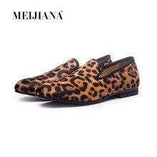 dd1e4ce3c New Handmade Leopard Homens Loafers Parte Inferior Vermelha Estresse  Cavalheiro Moda de Luxo Sapatos de Festa sapatos de lantejo.