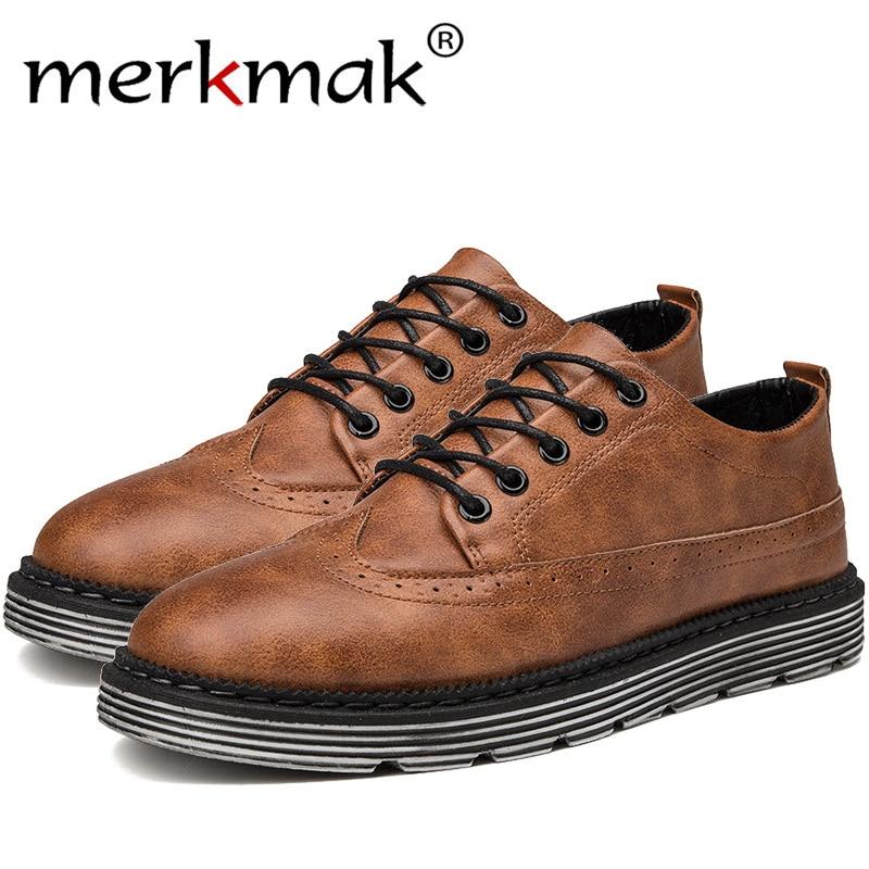 Merkmak Oxford Ayakkabı Için erkek ayakkabısı Adam Inek Deri Ayak Bileği  Kadın rahat ayakkabılar Flats 2018 5ab8c72c2c6