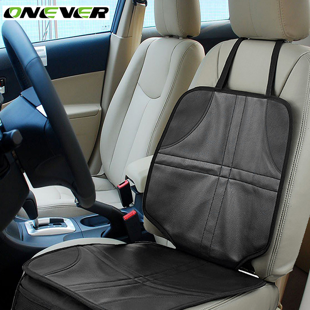 onever auto anti slip car seat protector mat cover for child kids baby install under baby 39 s. Black Bedroom Furniture Sets. Home Design Ideas