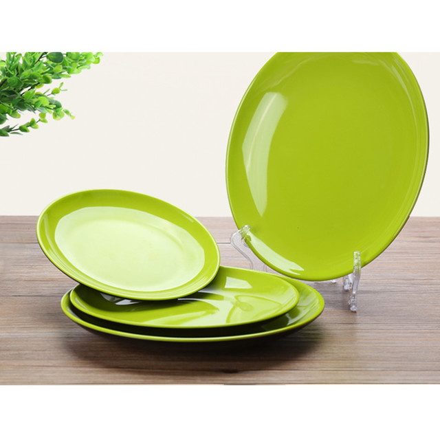 kitchen plates bar high quality stylish 3pcs dinner plastic a5 imitation ceramic tray tableware dessert fruit dish plate pratos