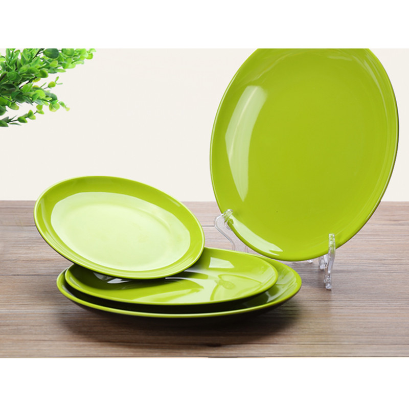 high quality stylish 3pcs dinner plates plastic a5 imitation ceramic tray kitchen tableware dessert fruit dish