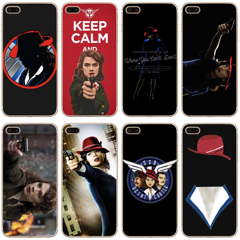 H012 Agent Carter Transparent Hard Thin Case Cover For Apple iPhone 4 4S 5 5S SE 5C 6 6S 7 8 X Plus