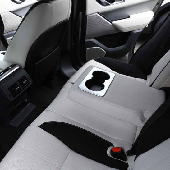 For Landrover Range Rover VELAR 2017 Car styling Rear Row Cup Holder Cover Trim ABS Matte Silver Interior Accessories in Car Stickers from Automobiles Motorcycles