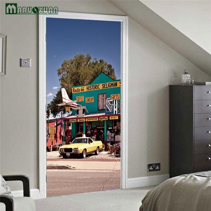 Maruoxuan New 3d Door Sticky Selman Coffee Gift Shop Sticker Bedroom