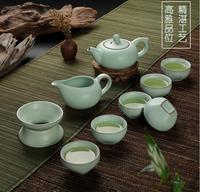 3 kinds RUYAO celadon tea set, Chinese famous RU kiln porcelain tea set, elegant design, made in DEHUA