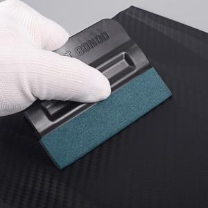 Image 4 - FOSHIO 5 stücke Carbon Faser Vinyl Film Auto Wrap Magnetische Rakel Fenster Farbton Kein Kratzer Wildleder Fühlte Magnet Schaber Auto aufkleber Werkzeug