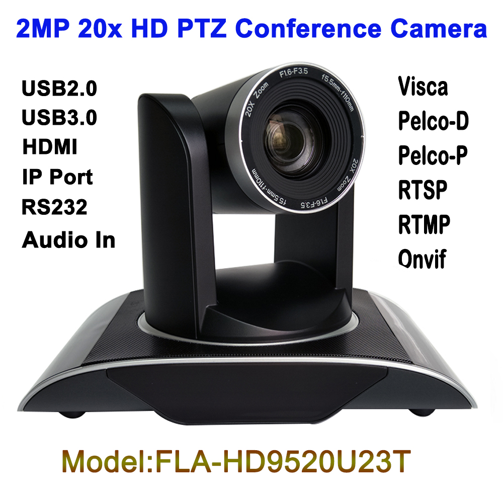 2MP 1080P60fps IP PTZ Camera Conference Video Audio Network RTSP RTMP ONVIF Plug and Play with USB and HDMI Output image
