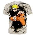 Das Mulheres dos homens Clássico Anime t shirts Cool Naruto camiseta Harajuku Camiseta Feminino Masculino Hipster 3D tshirt Hip Hop Tops Tees