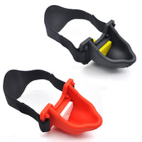 HOWOSEX silicone Urine open mouth gag head harness gag bdsm bondage sex slave fetish wear erotic games adult sex toy for couples