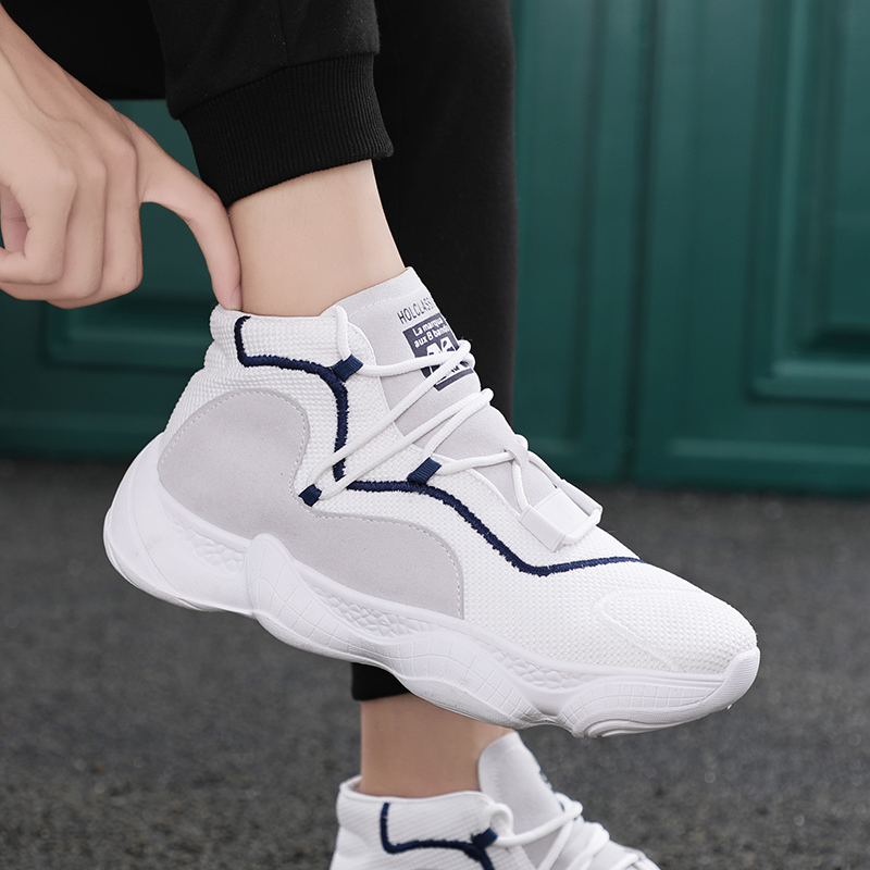 LAISUMK Popular Four Season Casual Shoes Men Sneakers Comfortable Fashion Lace Up High Quality Male Shoes 2019 Breathable New in Men 39 s Casual Shoes from Shoes