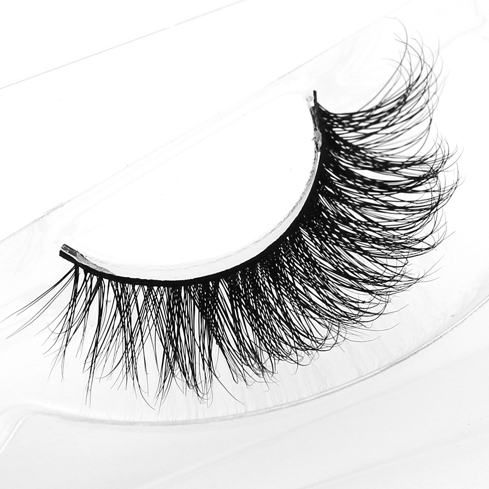 genailish Mink Eyelashes Makeup Lashes Beauty False Eyelashes Long Black Natural Handmade Eye Lashes Extension Fake Eyelash-A19