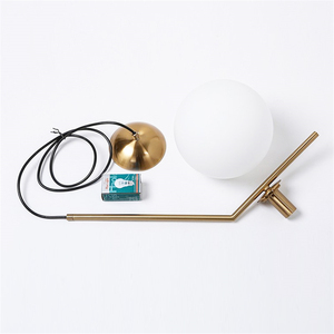 Image 5 - Modern gloden Glass Ball Pendant Lamp Fixtures Dining Bedroom lamp Luminaire Frosted Lampshade Socket Hanging Lamp luxury lustre