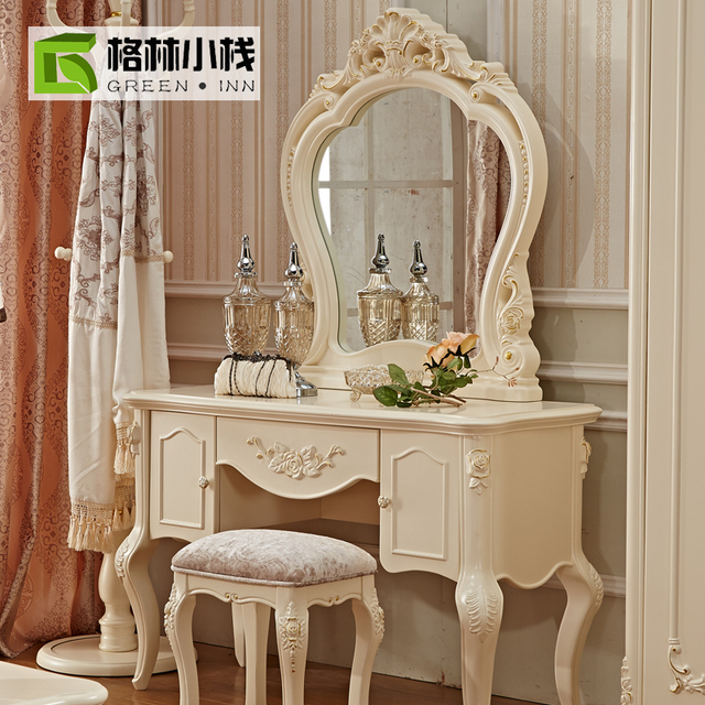 Le Grand 6 Drawer Dresser In Antique White: French Luxury Makeup Mirror Vanity Mirror Dressing Table