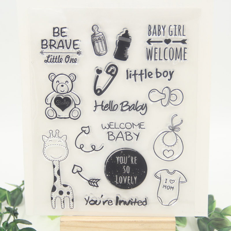 Little Baby Decoration Transparent Clear Silicone Stamp/Seal for DIY scrapbooking/photo album Decorative clear stamp sheets about lovely baby design transparent clear silicone stamp seal for diy scrapbooking photo album clear stamp paper craft cl 052